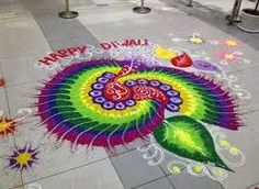 Happy Diwali 2019 - Diwali Images, Diwali Wishes, Diwali Rangoli Designs Rangoli Patterns, Rangoli Ideas, Kolam Rangoli, Flower Rangoli, Peacock Rangoli, Easy Rangoli, Rangoli Photos, Indian Rangoli Designs, Simple Rangoli Designs Images