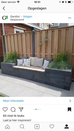 Outdoor living with modern outdoor banking inspiration - Diygardensproject.live- Leben im Freien mit moderner Outdoor-Bankinspiration … – Diygardensproject.live Outdoor life with modern outdoor banking inspiration - Terrace Garden, Garden Beds, Garden Plants, Garden Fences, Garden Privacy, Backyard Privacy, Garden Ideas What To Plant, Court Yard Garden Ideas, Garden Veranda Ideas
