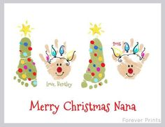 Made from your child's actual prints Christmas by MyForeverPrints