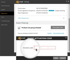 Avast Cleanup Activation Instructions