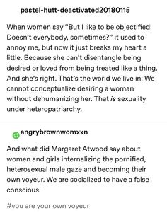 but it's definitely true for lots of women, especially young girls who are only learning about sex from porn and terrible/nonexistent sex ed Smash The Patriarchy, Faith In Humanity, Social Issues, Social Justice, Inspire Me, In This World, Equality, Thoughts, Sayings