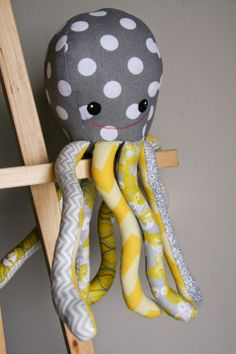 The Blind Stitch: Toby the Octopus Stuffed Animal, Softie, Handmade