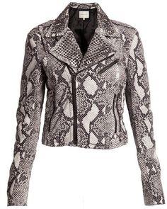 Studded snake leather jacket - Polyvore