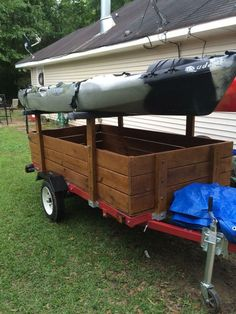 Kayak Storage Trailer Harbor Freight Trailer Ultimate Build Up And Modifications - Harbor Freight Trailer Ultimate Build Up And Modifications Canoe Boat, Canoe Camping, Canoe And Kayak, Kayak Fishing, Camping Life, Fishing Tips, Outdoor Camping, Kayak Trailer, Trailer Diy