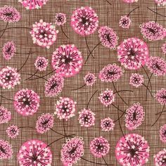 Kaufman vintage floral burst. Pink and brown cuteness.