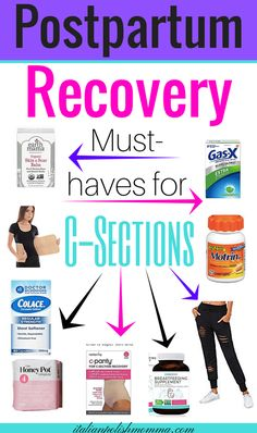 Postpartum recovery must haves! Here are c-section recovery essentials and tips to get you through the first few weeks! #csection #postpartum #recovery #csectionrecovery #baby #cesarean