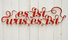 Es ist was es ist, Wanddeko // wall decoration by westpakete via dawanda.com