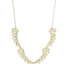 Vine Gold Dipped Lace Necklace 1