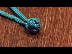 Learn How To Tie A Paracord Chinese Button Globe Knot - YouTube