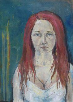 Autoportrét; olej na plátně; 2016