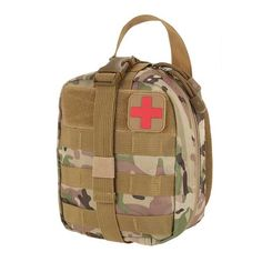 Outdoor Utility Tactical Pouch Medical First Aid Kit Patch Bag Molle Medical Cover Hunting Emergency Survival Package 2 colors.
