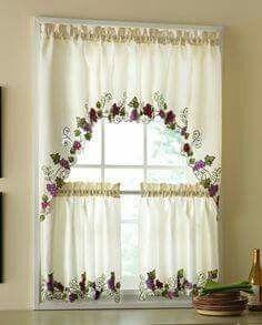24 mejores imágenes de cortinas para cocina | Window treatments ...