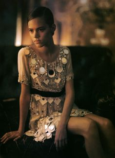 Freja Beha Erichsen photographed by Paolo Roversi - Vogue Italia: April 2006 - Over-Minimal, Over-Refined