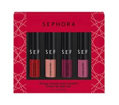 Cream Lip Stain Set - Sada 4 mini rtěnek Cream Lip Stain značky SEPHORA COLLECTION na Sephora.cz