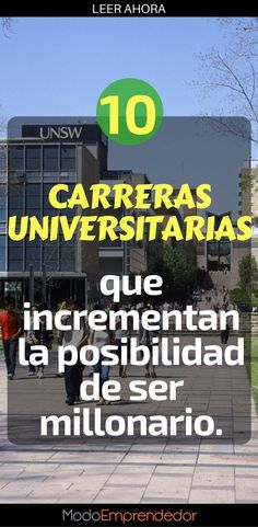 Las carreras universitarias que te daran mas dinero. #educación #exito #invierteenti #profesional #carrera