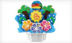 Groupon - 7-Cookie Bouquet or 13-Inch Pan Cookie from Cookies By Design (Up to 52% Off). Groupon deal price: $18.00