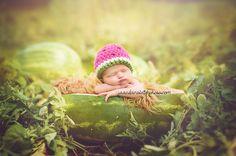 Watermelon Crochet Fruit Summer Beanie Hat Newborn Infant Baby Girl Photography Prop tutu set option