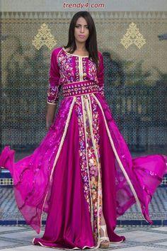 Gorgeous pink kaftan
