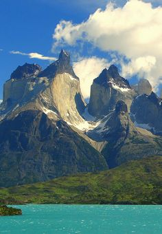 Los Cuernos del Paine from Lago Nordenskjöld, Patagonia, Chile. #travel #route #chile