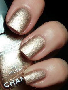 Chanel Summertime Collection:  Delight is a really sparkly bronze..beautiful with a tan