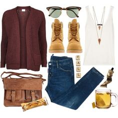 Lovely fall outfit.