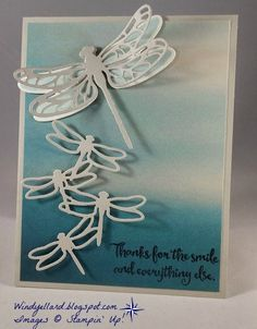 Stampin' Up! - Detailed Dragonfly Thinlits Dies - Dragonfly Dreams - Serene Scenery DSP Stack