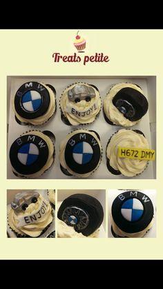 BMW cupcakes Car Cupcakes, Pastel, Bmw, Treats, Birthday, Sweet Like Candy, Cake, Goodies, Birthdays
