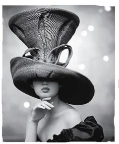 haute couture hat                                                              it's like the mad-hatter :D