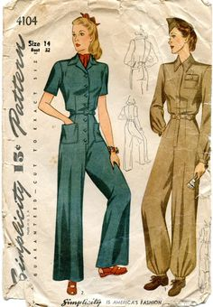 Unsung Sewing Patterns: Simplicity 4104 - Misses' and women's Slack Suit and Coverall