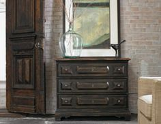 Home Furniture | Living Room Accent Furniture | Three-Drawer Chest - By Hooker Furniture