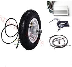 """185.00$  Buy now - http://ali1wf.worldwells.pw/go.php?t=32647737847 - """"10""""""""  800W 24v disc brake electric motor scooter , electric scooter motor kit ,electric wheelchair motor kit """" 185.00$"""