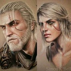 Had these Geralt and Ciri pencil drawings on display at the Liverpool Tattoo… The Witcher Ciri, Geralt And Ciri, The Witcher Game, The Witcher Books, Witcher Art, Witcher 3 Wild Hunt, Fantasy Inspiration, Character Inspiration, Witcher Tattoo