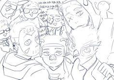 BananaBusSquad, Vanossgaming, H2ODelirious, IAmWildcat, Cartoonz