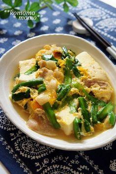 ♥レポ300件感謝です♥ ニラと豚肉でスタミナ満点! お豆腐と卵で優しい味わいも嬉しい。 家族喜ぶレシピです♡