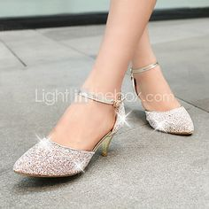 Women's Shoes Stiletto Heel Pointed Toe Pumps Shoes More Colors available - USD $34.99