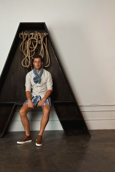 I'm on the fence when it comes to Summer scarf for men -- don't like the scarf, but i'm diggin the kicks!