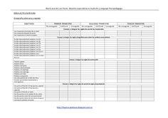 Programación completa de Audición y Lenguaje