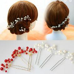 Wholesale Hair Jewelry Accessory Wedding Bridal Bridesmaid Red White Pearl Flower Hairpins Headpiece Hair Pins Clips Tiara HP007 - http://fashionfromchina.net/?product=wholesale-hair-jewelry-accessory-wedding-bridal-bridesmaid-red-white-pearl-flower-hairpins-headpiece-hair-pins-clips-tiara-hp007