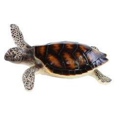 Urban Trends Painted Resin Turtle Sculpture - 24828
