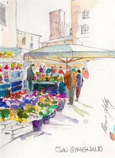 Art journal inspiration. Travel diary. Sketchbook. Brushstrokes Art Classes - ITALY 2010, Diane Kelly