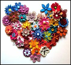 DAYDREAMS: For my love for Quilled flowers.  Forty different quilled flowers - these are gorgeous!