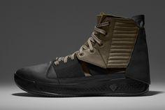 İsveçli tasarımcı Erik Bjerkesjö ile BRANDBLACK'in iş birliği, ortaya bu militer desenli basketbol ayakkabısını çıkardı.