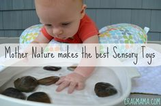 Sensory Toys that won't cost you a penny! Nature Play For Babies: Safe Exploration For Your Littlest Adventurers (and GIVEAWAY!) | Cragmama
