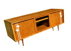 Mid Century Inspired Danish Modern TV Stand by OrWaDesigns on Etsy, $725.00. Love it in walnut or english chestnut