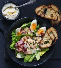 Ciabatta, Creative Food, Cobb Salad, Sushi, Good Food, Food And Drink, Fresh, Meat, Chicken