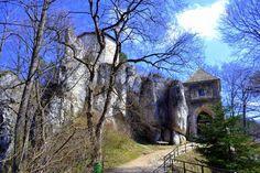 Zamek w Ojcowie – położony na terenie Ojcowskiego Parku Narodowego był zamkiem warownym wzniesionym przez Kazimierza Wielkiego w II poł XIVw