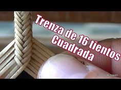 """Trenza de 16  """"Cuadrada"""" (trama 4x4) """"El Rincón del Soguero"""""""