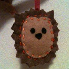 Hedgehog ornament :)