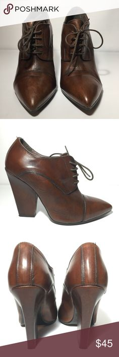 Formentini Brown Leather lace up heel Formentini leather lace up heel. Made In Italy , size 39 formentini Shoes Heels