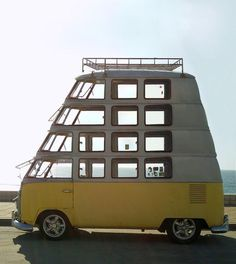 This multi-storey VW minibus comes from Berger Stadel Walsh of Basel,